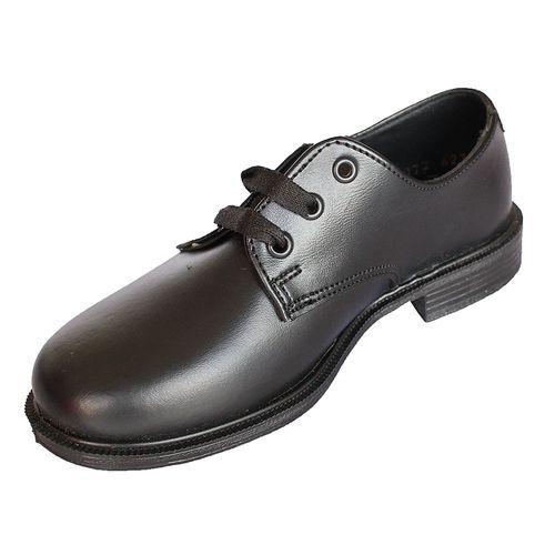Buy Bata 244-6015 Plain Toe Tie Boys Shoes - Black online ...