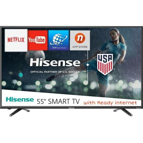 55'' Inch 4K Ultra HD Smart TV with Built-in WIFI-1080p Full HD, In built Free to Air Decoder - Black