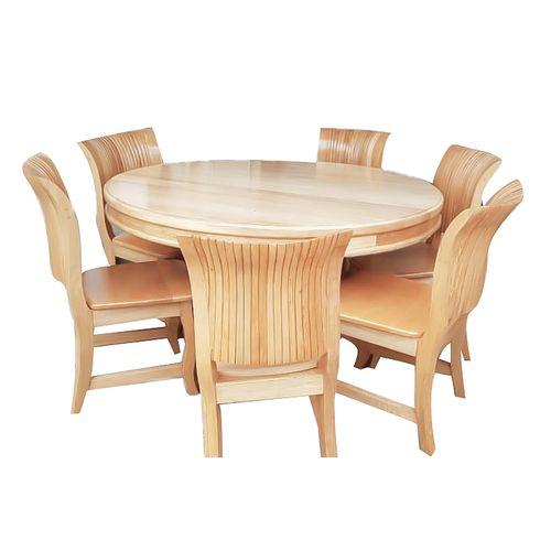 Shop 7 Seater Round Dining Table - Brown   Jumia Uganda