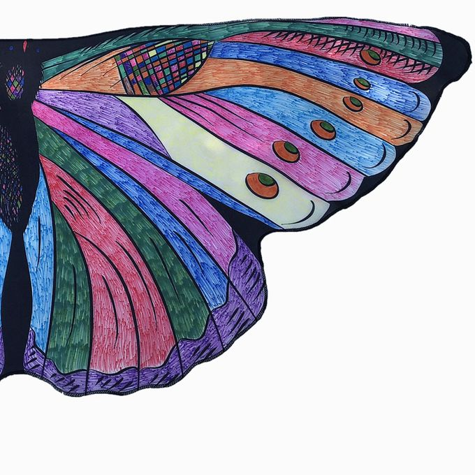 Kids Child Diy Butterfly Cape Wings Creative Angel Wings Dress Up Costume