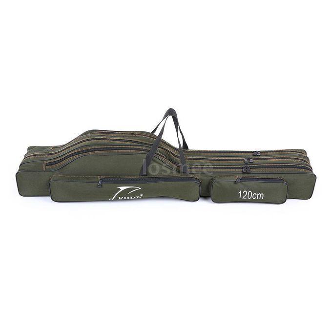 Folding Fishing Rod Bag Pole Carrier Waterproof Case Organizer Holder P1M1