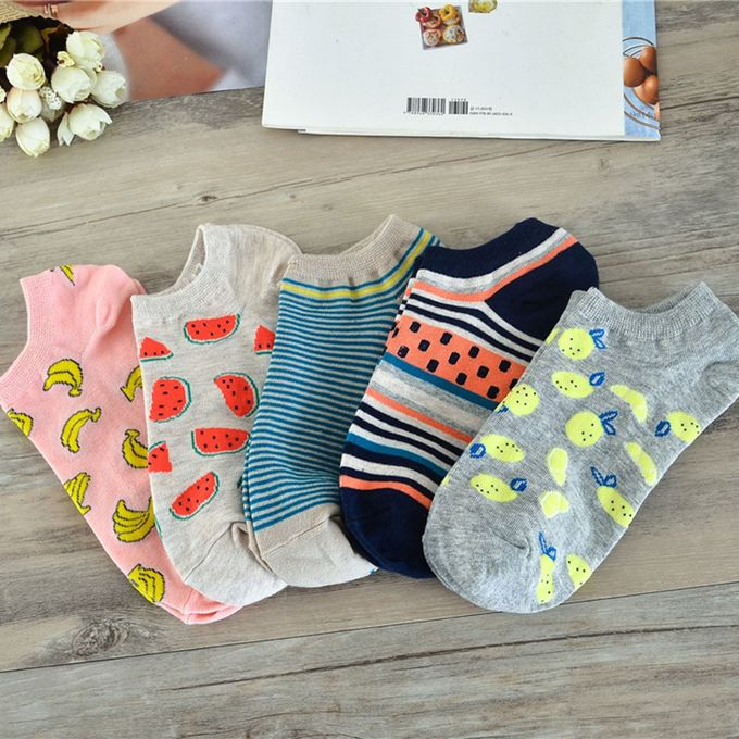 Durable Women Dots Cotton Low Cut Ankle Candy-color Casual Invisible Socks0A