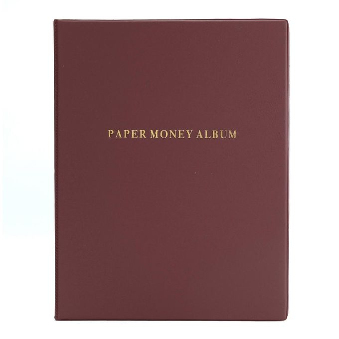 60 Paper Money Collection Note Holders Album Book Collecting Storage Pockets