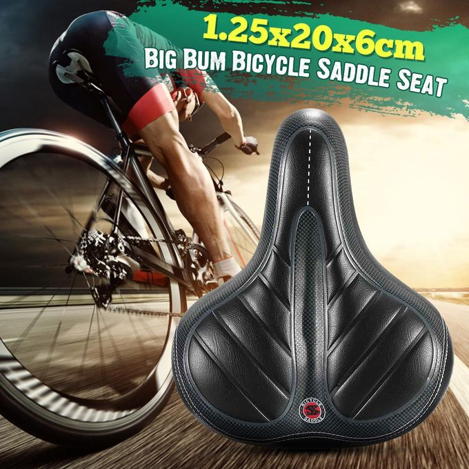 Wide Big Bum Cycl Bicycle Thicken Soft Foam Extra Comfort Sporty Pad SaddleSeat