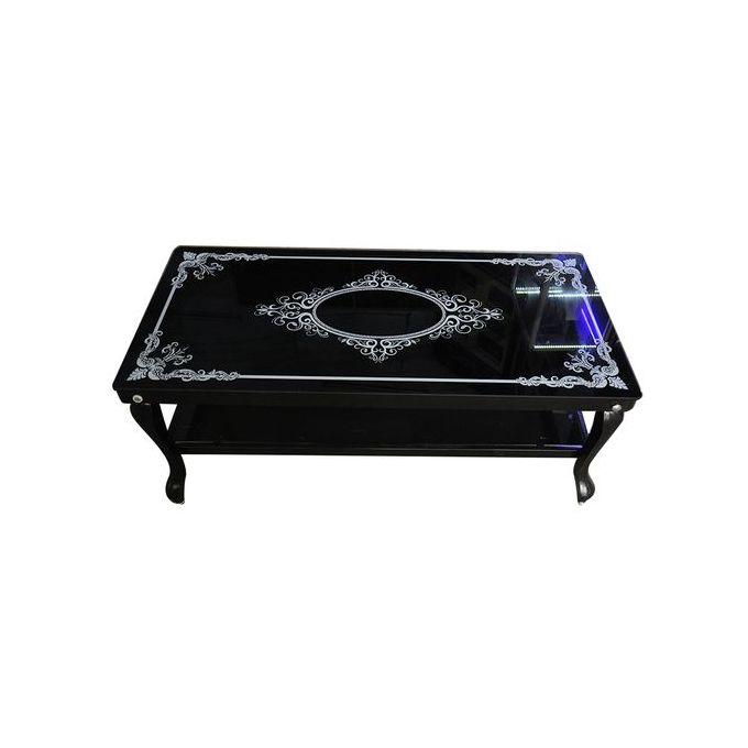 Shop Generic Metallic Glass Table Black Jumia Egypt