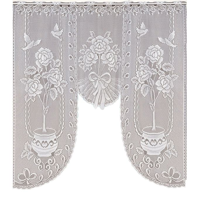 Vintage Style Lace Coffee Curtain Kitchen Curtain Vintage Style Window Scarf New