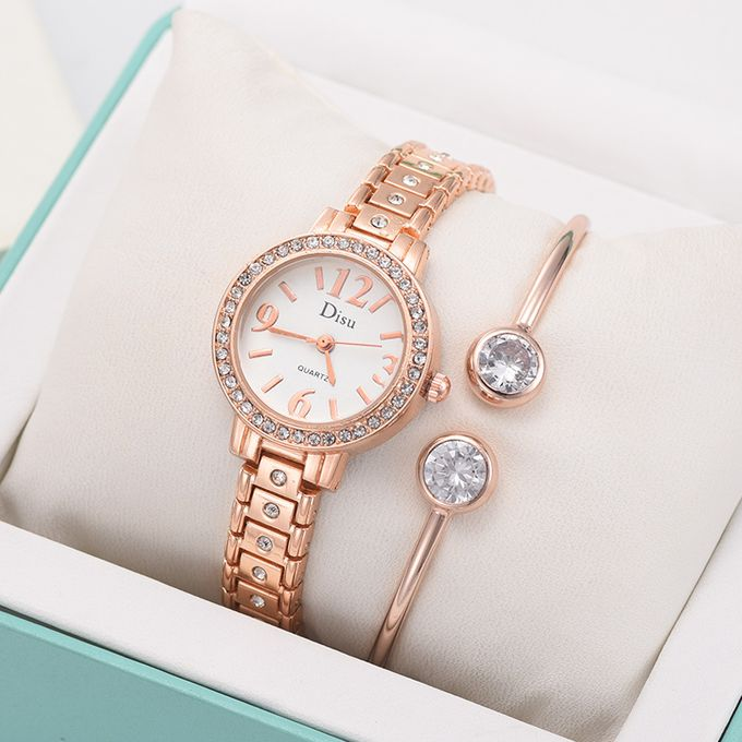 Light Luxury Lady Temperament Watch Bracelet Set Chain Birthday Gift