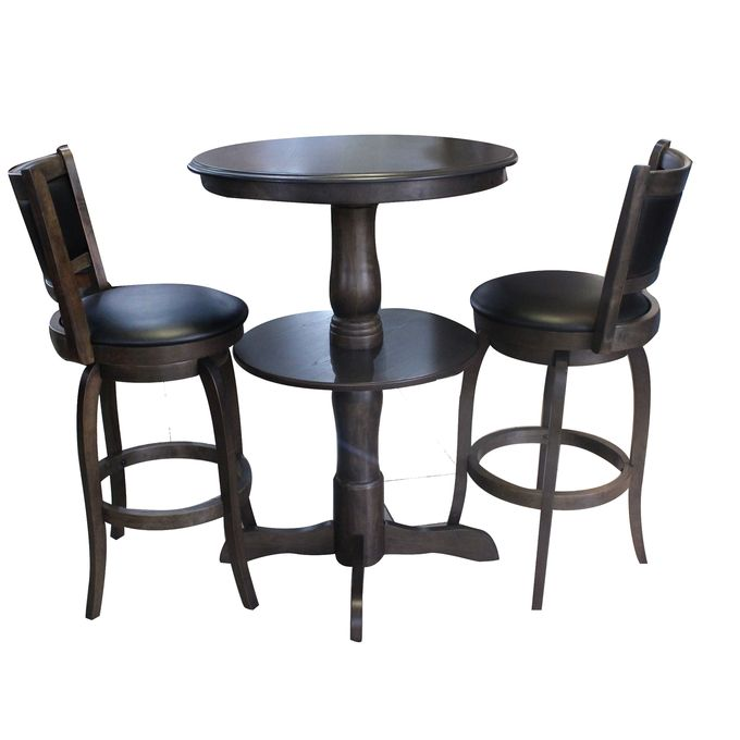 Surprising Be1516C Bs Bar Table With 2 Chairs Coffee Brown Pabps2019 Chair Design Images Pabps2019Com