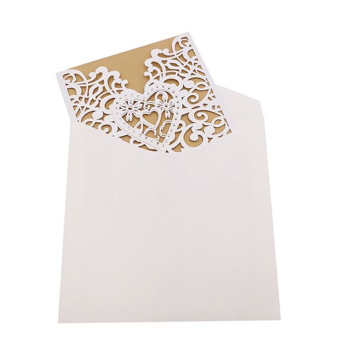 10pcs Delicate Carved Romantic Wedding Party Invitation Card Envelope