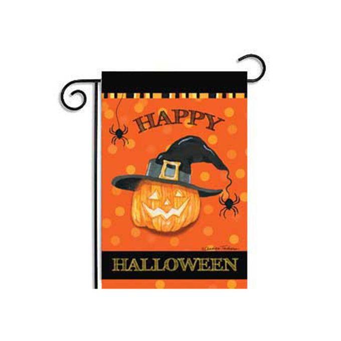Hot New Custom Pumpkin Halloween Weatherproof Decoration Garden Flag 12x18 inch
