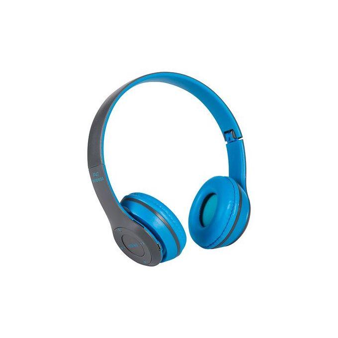 Shop Wireless Bluetooth Headphones Blue Jumia Uganda