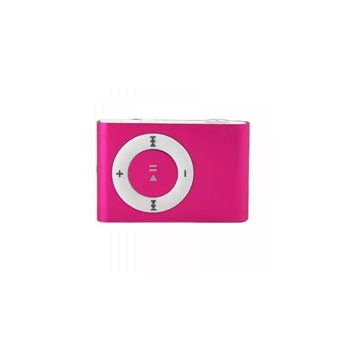 Portable Mini Rechargeable MP3 Player Clip USB FM Radio LCD Screen Support  for 32GB Micro SD - Pink