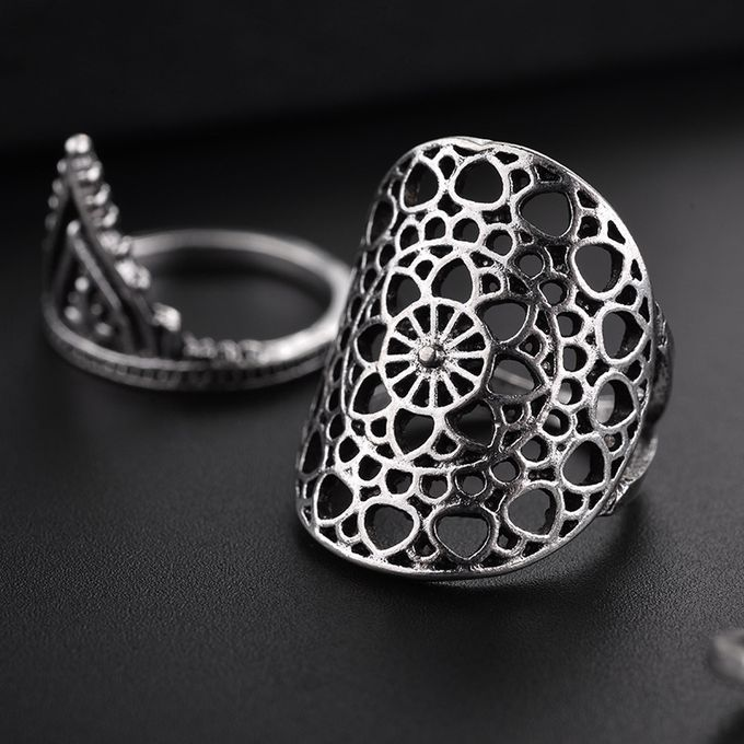 Buy Fashion Hiamok 11pcs Rings Set Natural Gemstone Fire