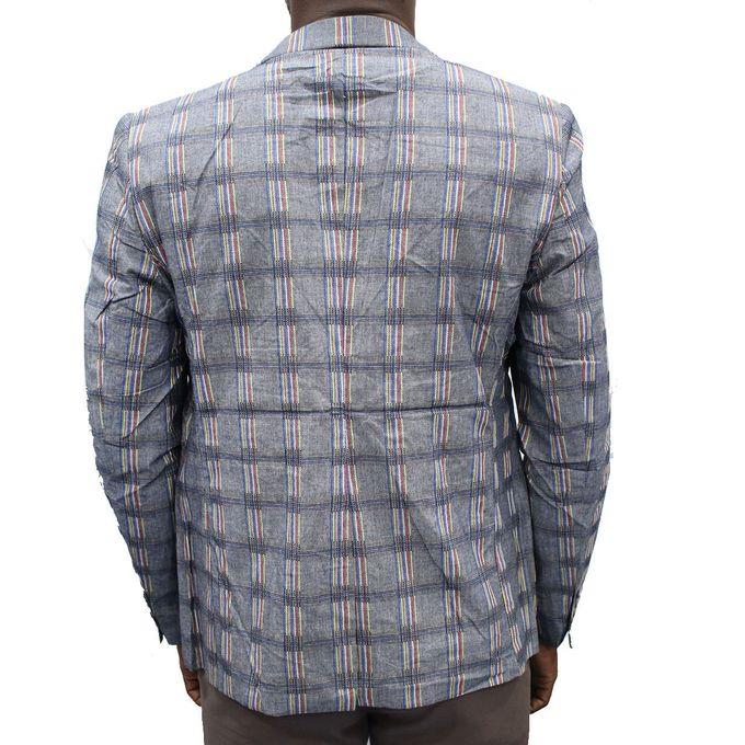 niedrigerer Preis mit Verkauf Einzelhändler 2018 Schuhe Checkered Long Sleeve Blazer - Grey