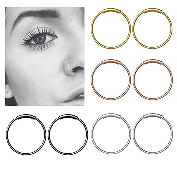 Shop Fashion Hiamok Stainless Steel Hinge Septum Piercing Nose