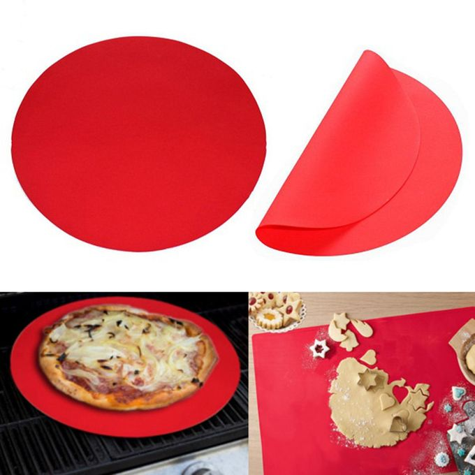 11.8 inch Silicone Round Baking Mat Oven Microwave Cookie Pizza Sheet Thin