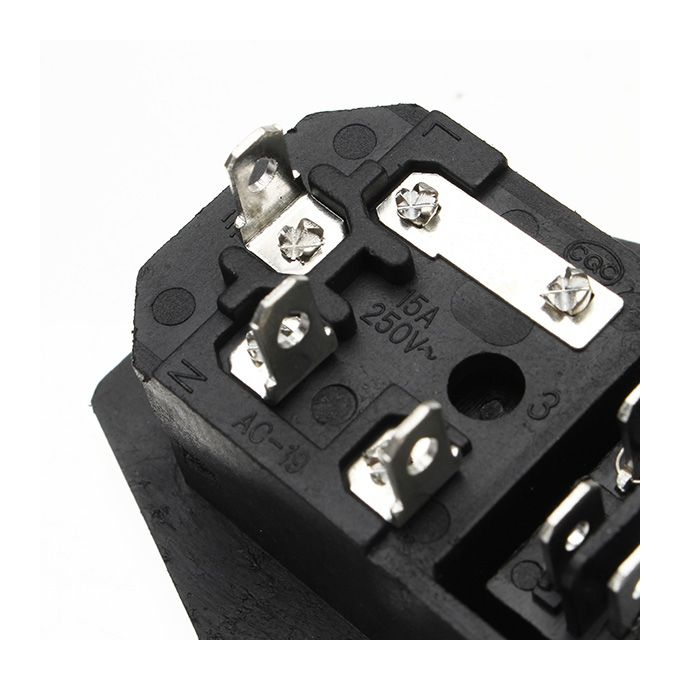 220V//110V 5A Power Outlet Socket With Switch And 6A Fuse For 3D Printer