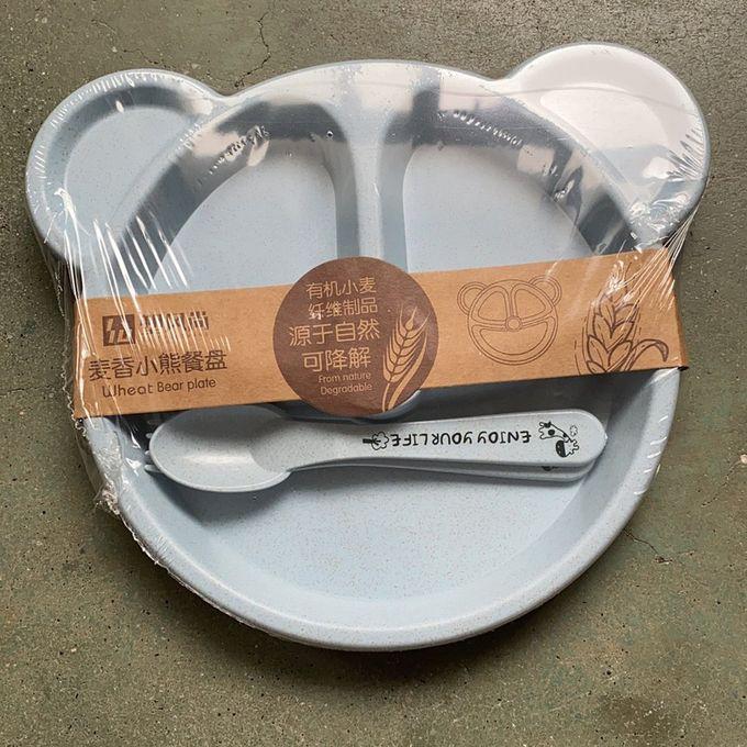 Children/'s Dinner Set Wheat Straw Tableware Baby Dish Tray Breakfast Tray