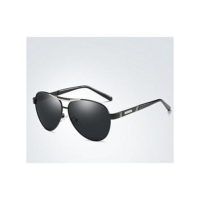 09b761b608c7 men and women polarized sunglasses inside blue film driving glasses-black- black