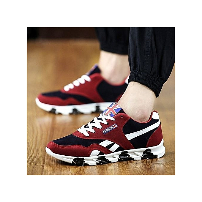 competitive price a2584 4e4cb Stylish UK Flag Print Men's Breathable Sport Shoes
