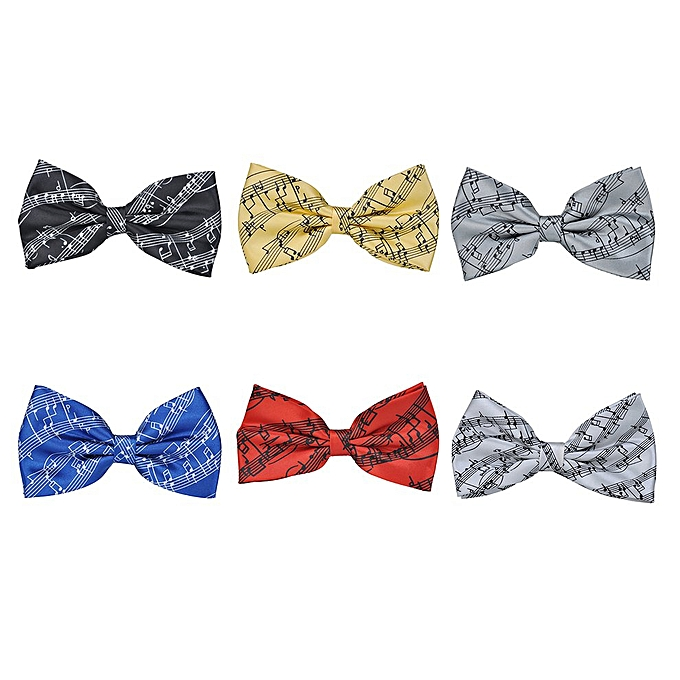 Men Pre Tie Music Notes Bow Self Birthday Gift Formal Fun Occasions