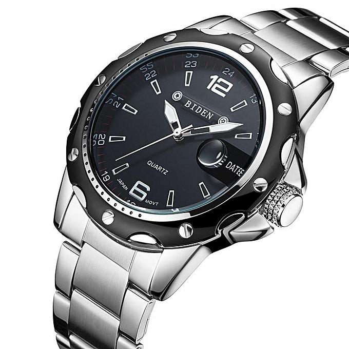 14a55e33f35 Biden Stainless Steel Analog Wrist Watch - Silver