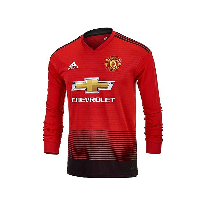 check out 6a794 fee8c Replica Manchester united 2018/19 home Jersey, long sleeve - Red, black