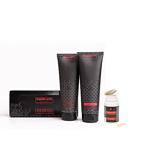 4be9939f64a Buy Other Placent Activ hair growth set for one month (4 products: serum,  vitamins, shampoo, conditioner) online | Jumia Uganda