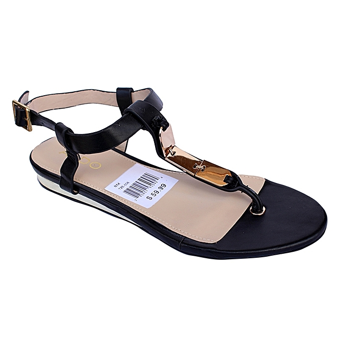 Buy New Women S Simple Flat Wedges Black Best Price