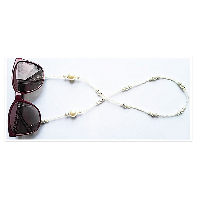 4ba9785ae6 Imitation Pearls Glasses Holder Fashion Neck Strap Eyeglass Chains