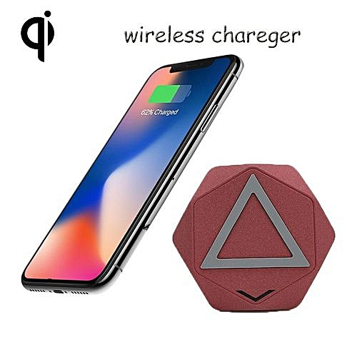 new arrival c730c 3a8fe Qi Wireless Charging Pad QC Quick Charge 10W 9V Wireless Charger With  Anti-slip Rubber For IPhone X 8 8 Plus Qi-enabled Devices - Red