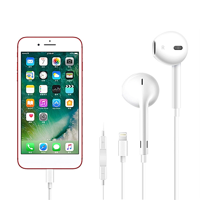separation shoes b8b44 23021 Apple EarPods with Lightning Connector In Ear Earphones In-line Remote  Microphone for iPhone 7 7 Plus 8 8 Plus X