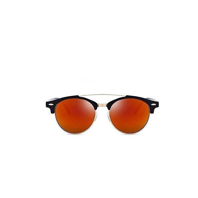 b68677e5fe17 Refined Men's Classic Metal Frame Fashion Personality Driving Mirror /  Polarizer-orange