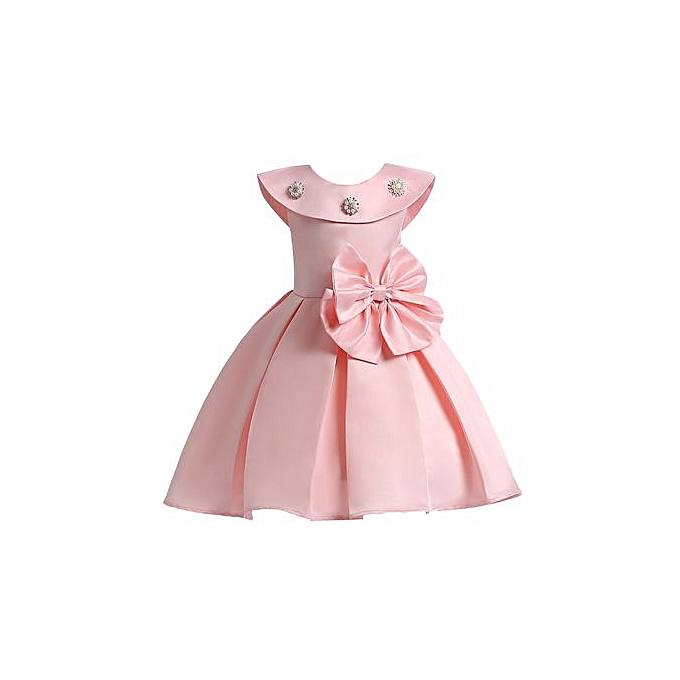 032ab8fbdee18 Summer Infant Baby Girls Mesh Formal Sleeveless Birthday Party Princess  Dress-pink