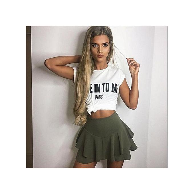 f81fdfd4fc Buy Generic Stylish Women Short Divided Skirt Mini Pleated Skirts ...