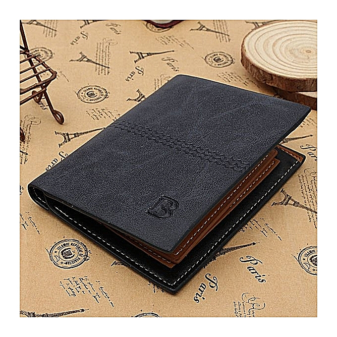 17007d9ead4e GENUINE Leather Men's Wallet Business Credit Card Money Holder Purse Bifold  Gift Blue