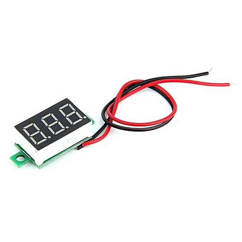 Mini Size LED Panel Voltage Meter 3-Digital LCD Display Adjustment  Voltmeter Red