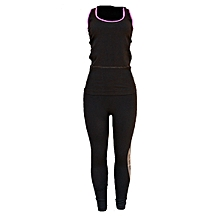 c002786a4a52 Women  039 s Gym Aerobics Yoga Running Fitness Sports Women Two Piece  Elastic Outfit