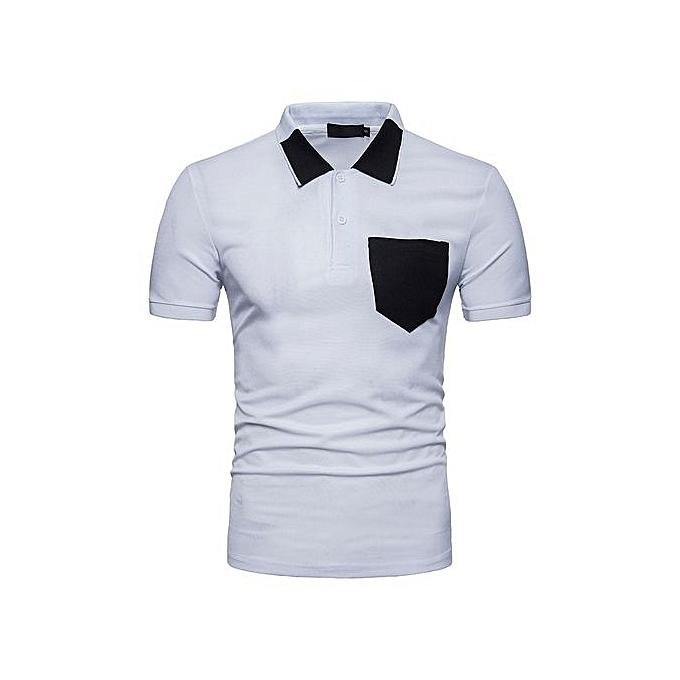 ad8d61c6a Polo Shirts Men Short Sleeve Summer White Black Tops Male Polo Shirts Slim  Fit Cotton Haoyu