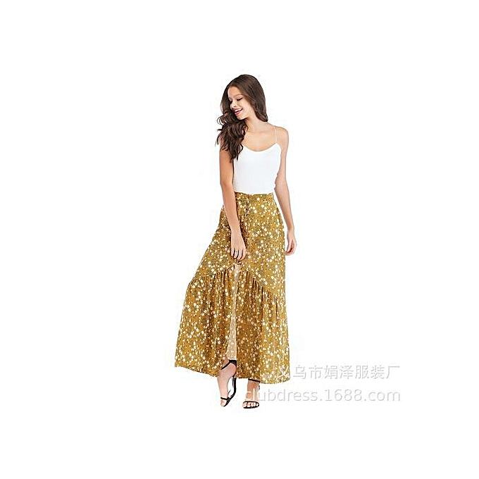 5a24acb2afcd0 Buy Generic Stylish Summer Women Floral Chiffon Pleated Skirt online ...
