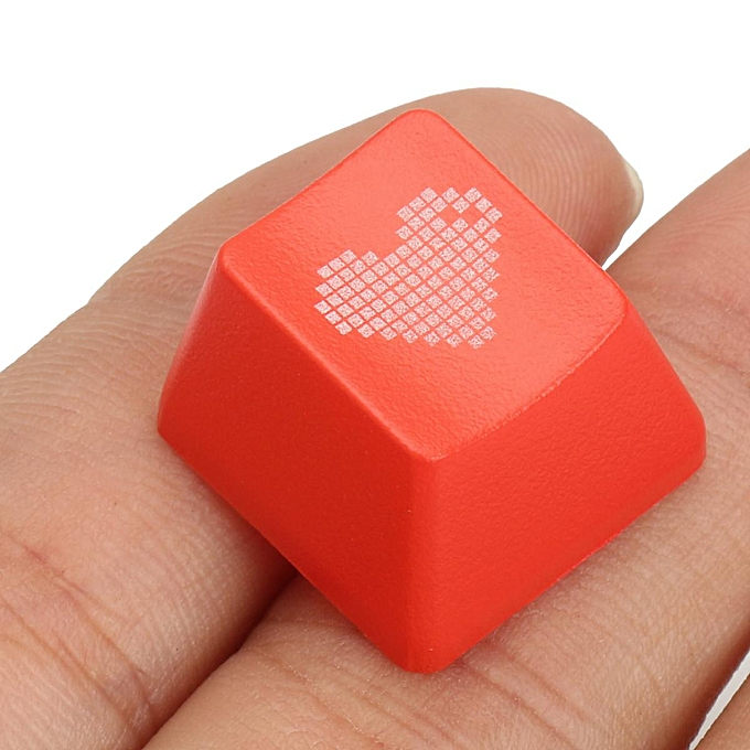 ABS Red Heart Keycap Translucent Backlit Keycaps for Cherry Mechanical  Keyboard