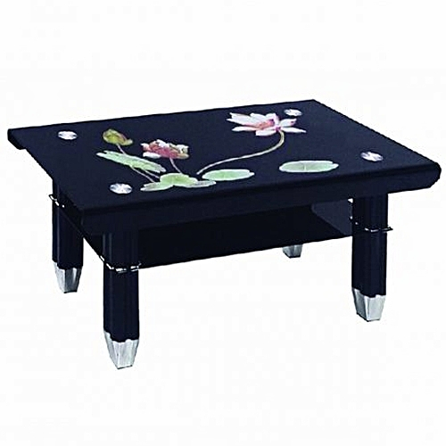 Sofa Sets In Uganda: Generic Floral Print Coffee Table - Black