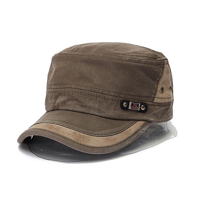 Unisex Cotton Blend Military Washed Baseball Cap Vintage Army Plain Flat  Cadet Hat For Men Women