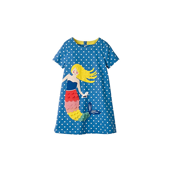 708379068 2019 Summer New Girls' Dresses In Large Children Short-sleeved Printed Children's  Wear