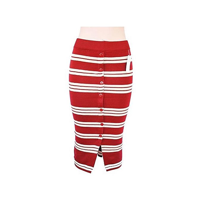 b047ca1262 Buy Generic Striped Sweater Skirt - Red, White online | Jumia Uganda