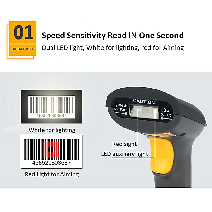 JR650 Wired Barcode Scanner Handheld Wechat Scanner Reader for Mobile  Payment Computer Screen Supermarket Retail Store Warehouse