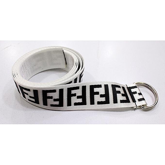 566633ebcec New Fashion Off-White Unisex Belt - White