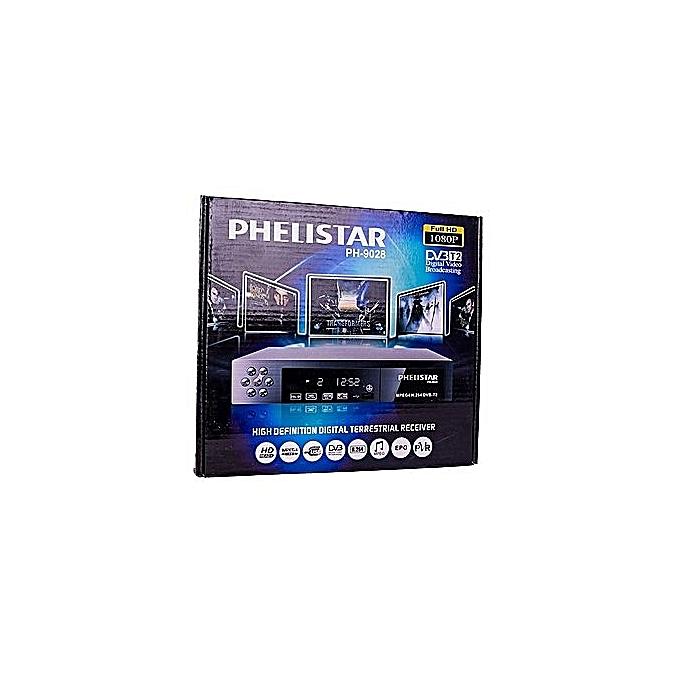 Phelistar Free to Air Decoder - Black