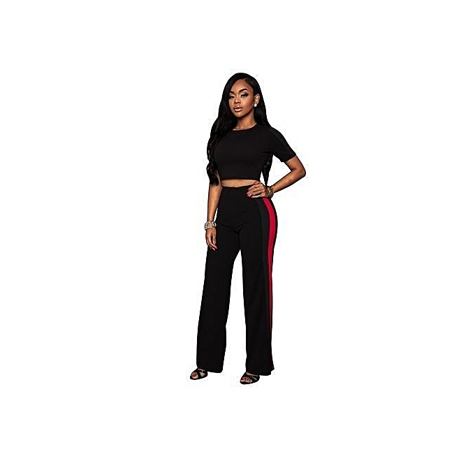 c4a68805ae Womens Tracksuit Fashion Hooded Crop Top And Long Pants 2 Piece Set Female  Cotton Casual Pants Suits Set Summer Outfits-black