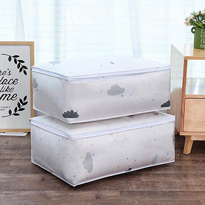 9d23e3630297 Folding Washable PEVA Quilts Large Capacity Storage Bags Portable  House-moving Container Clothes Storage #57*40*22cm